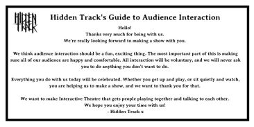 Hidden Track's acclaimed interaction guide.